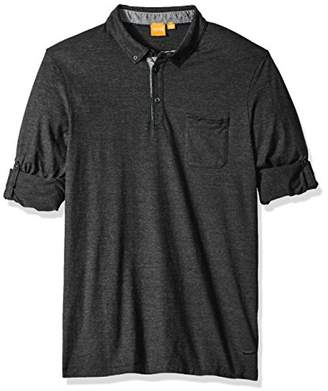 HUGO BOSS BOSS Orange Men's Patcherman Long Sleeved Polo Shirt