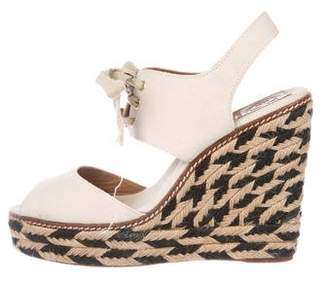 Tory Burch Canvas Platform Wedges