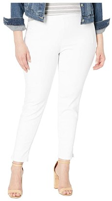 NYDJ Plus Size Plus Size Pull-On Skinny Ankle w/ Slit in Optic White