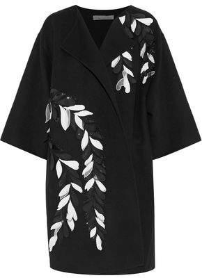 Oscar de la Renta Embellished Wool And Cashmere-Blend Jacket