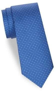 Saks Fifth Avenue Tonal Floral Silk Tie