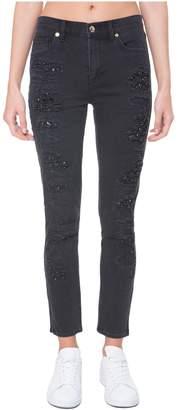 Juicy Couture Denim Stone Embellished Rip & Repair Skinny Jean