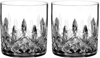 Waterford Lismore Connoisseur Whiskey Straight Sided Tumbler Glass, Set of 2