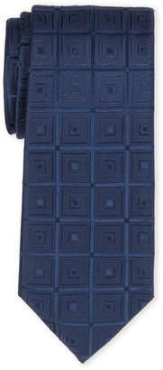 MICHAEL Michael Kors Navy Total Squares Silk Tie
