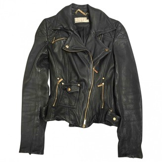 Karen Millen Black Leather Leather Jacket for Women
