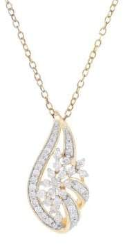 Lord & Taylor Diamonds and 14K Yellow Gold Pendant Necklace