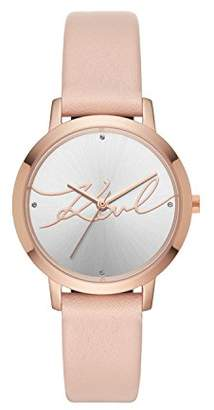 Karl Lagerfeld Women's Camille Quartz Stainless Steel and Leather Casual Watch