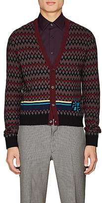 Prada Men's Intarsia-Chevron Wool-Cashmere Sweater