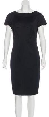 Magaschoni Short Sleeve Knee-Length Dress