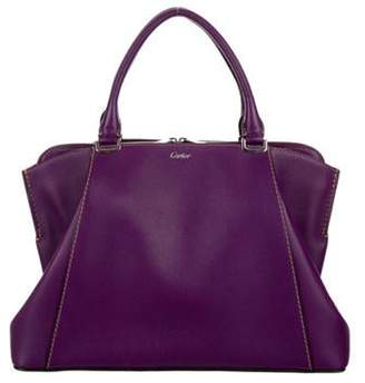 Cartier C De Leather Satchel Violet C De Leather Satchel