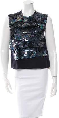 Dries Van Noten Embellished Silk Sleeveless Top w/ Tags