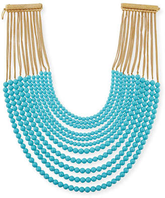 Rosantica Raissa Multi-Strand Beaded Necklace, Turquoise