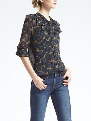 Floral Embroidered Flutter Blouse $88 thestylecure.com
