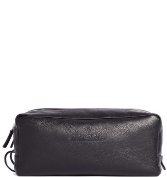 Brooks Brothers Leather Double-Zip Travel Case