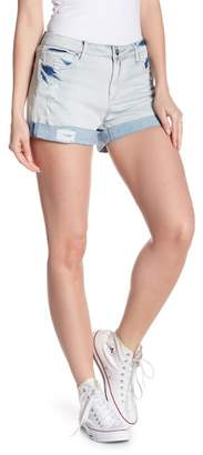 Tractr Distressed Roll Cuff Denim Shorts