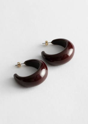 And other stories Chunky Resin Hoop Earrings