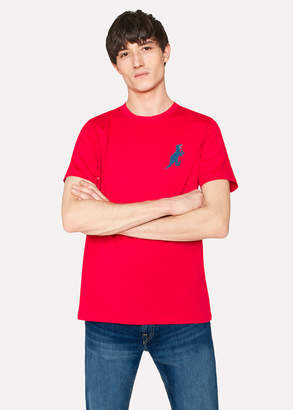 Paul Smith Men's Red 'Dino' Print Organic-Cotton T-Shirt
