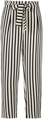 Parker Chinti & striped cropped trousers