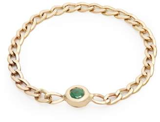 LOREN STEWART Emerald & yellow-gold chain ring