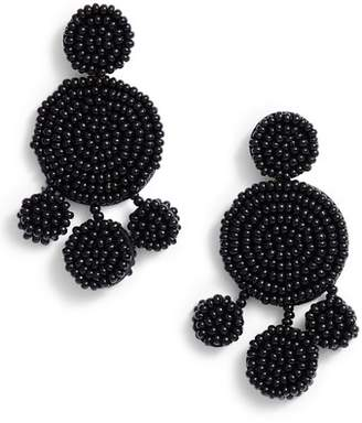 Rebecca Minkoff Beaded Disc Chandelier Earrings