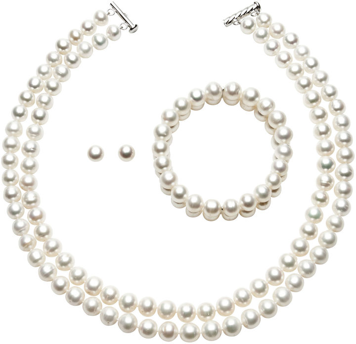 JCPenney FINE JEWELRY Cultured Freshwater Pearl 3-pc. Jewelry Set