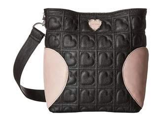 Betsey Johnson Small Hobo with Heart Gusset Hobo Handbags