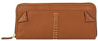 Hidesign Stitch Leather Women's Zip Around Wallet