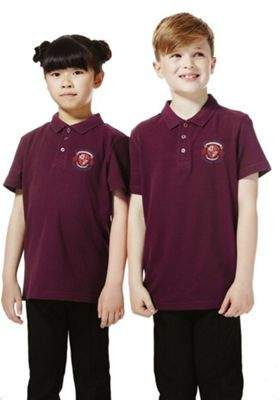 F&F Unisex Embroidered School Polo Shirt XXL