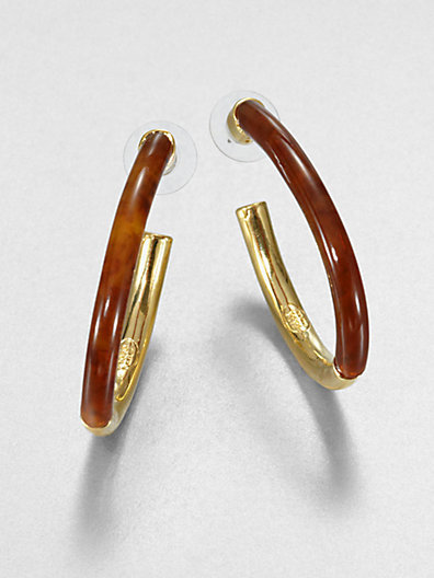Kara Ross Kara by Split Hoop Earrings/2""