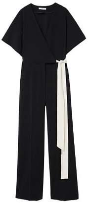 MANGO Bow detail jumpsuit