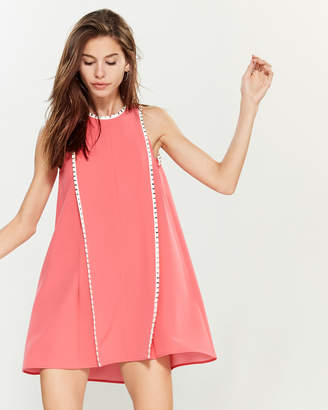 Versace Pink Stud Trim Mini Shift Dress
