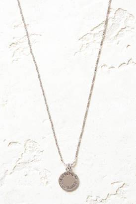 Vanessa Mooney Silver The Royals Medium VM Logo Pendant Necklace