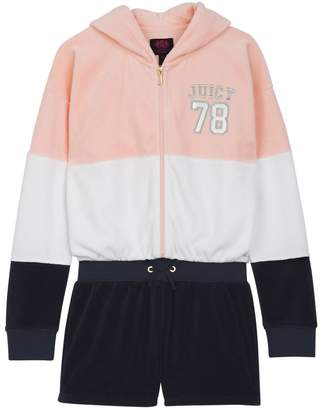 Juicy Couture Velour Juicy 78 Colorblock Romper for Girls
