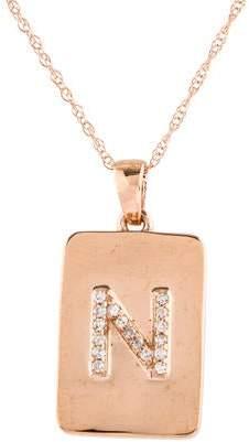 N. 14K Diamond 'N' Pendant Necklace