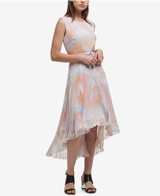DKNY Printed Crinkle Chiffon High-Low Dress, Created for Macy's