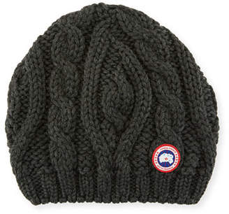 Canada Goose Ladies' Chunky Cable-Knit Beanie Hat