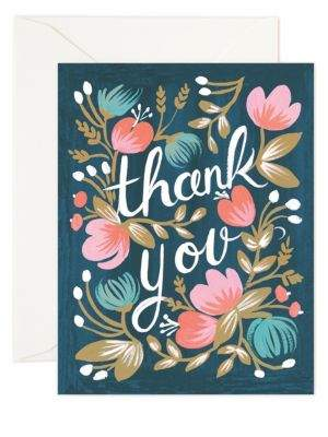 Rifle Paper Co. Midnight Garden Thank You Note/Set of 8