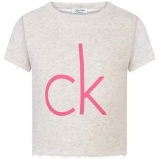 Calvin Klein Calvin KleinGirls Confetti Grey Heather Crop Top