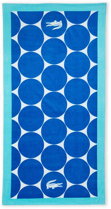 Lacoste Blue & Turquoise Riviera Beach Towel