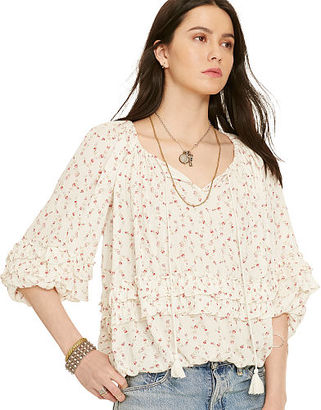 Ralph Lauren Denim & Supply Floral-Print Boho Blouse $89.50 thestylecure.com