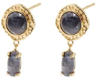 Gorjana Gia Gemstone Drop Stud Earrings