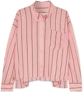 Etoile Isabel Marant Ycao Oversized Striped Cotton-blend Shirt - Pink