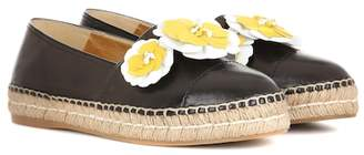 Prada Leather espadrilles