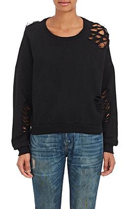 NSF Women's Farah Distressed Cotton Sweater $295 thestylecure.com