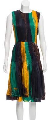 Oscar de la Renta 2011 Pleated Silk Dress