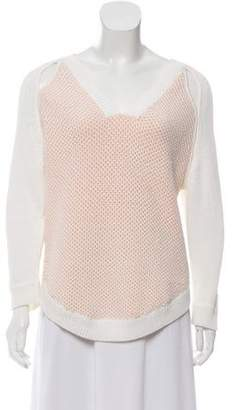 3.1 Phillip Lim Cut-Out V-Neck Sweater
