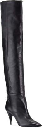 Saint Laurent Kiki Leather Over-The-Knee Boots