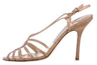 Jimmy Choo Metallic Slingback Sandals