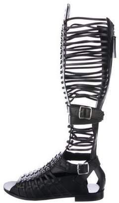 Diesel Black Gold Andrastea Gladiator Sandals