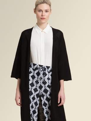 DKNY Long Cardigan With Three-Quarter Sleeve